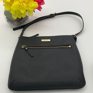 Kate Spade Black Gold Crossbody Leather Bag